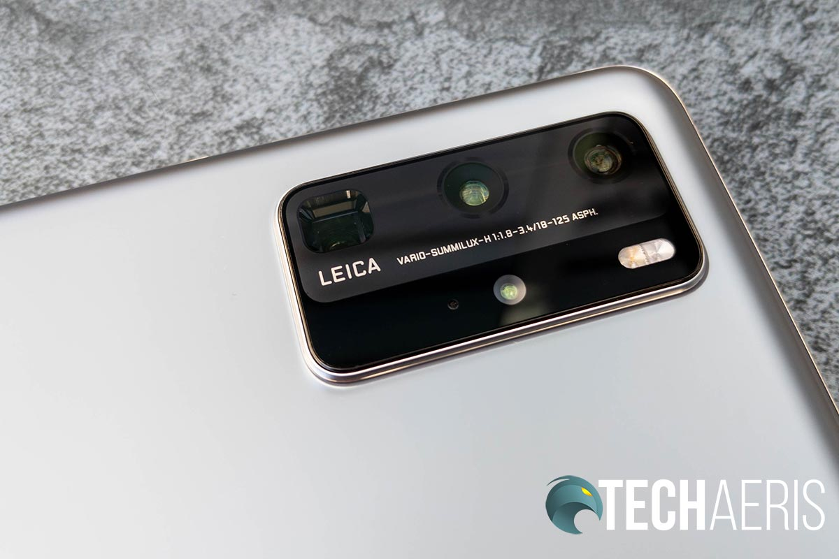 The Ultra Vision Leica Quad Camera on the back of the Huawei P40 Pro smartphone