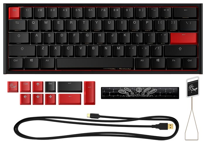 What's included with the HyperX x Ducky One 2 Mini limited edition mechanical gaming keyboard