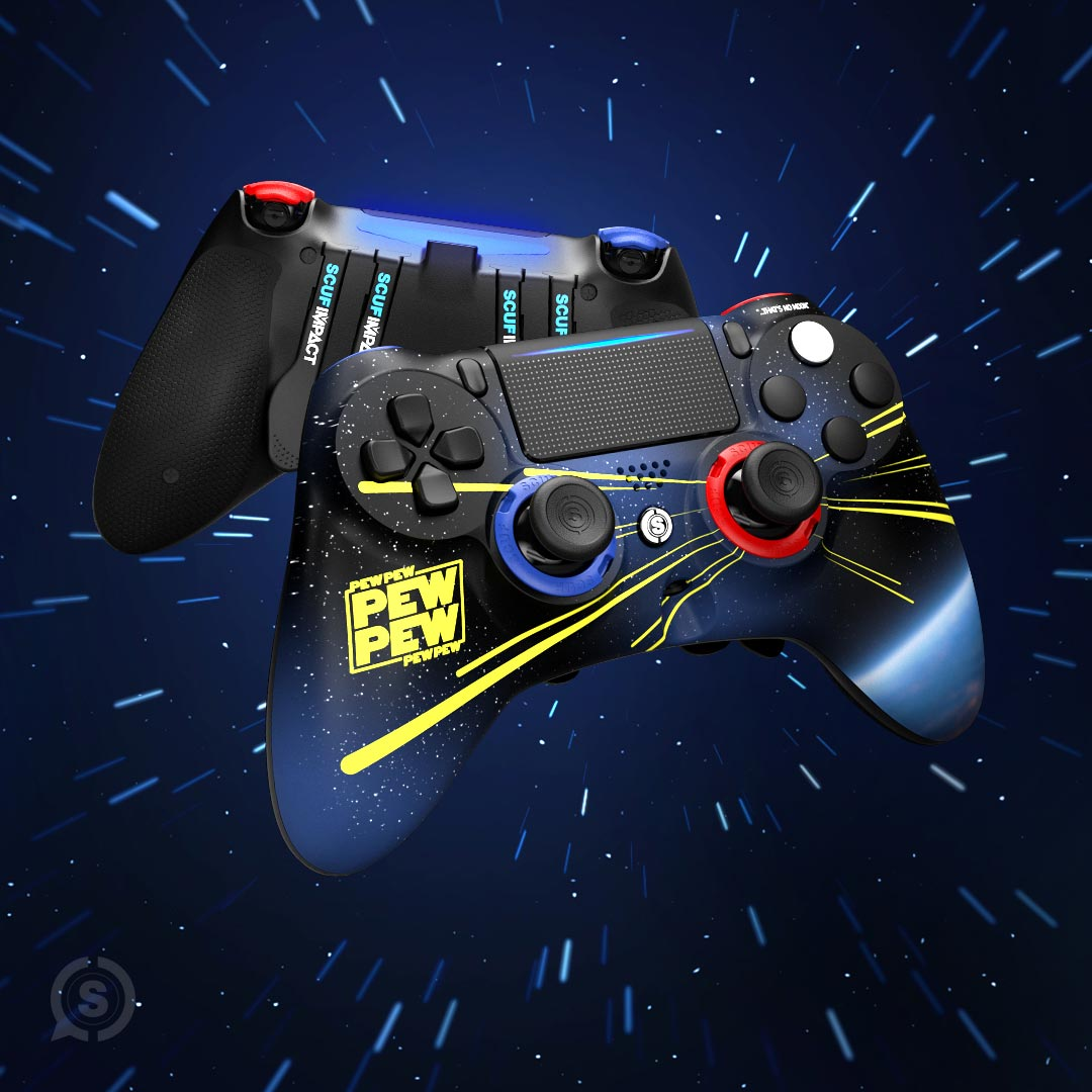 The limited edition May the 4th SCUF Impact PlayStation 4 controller