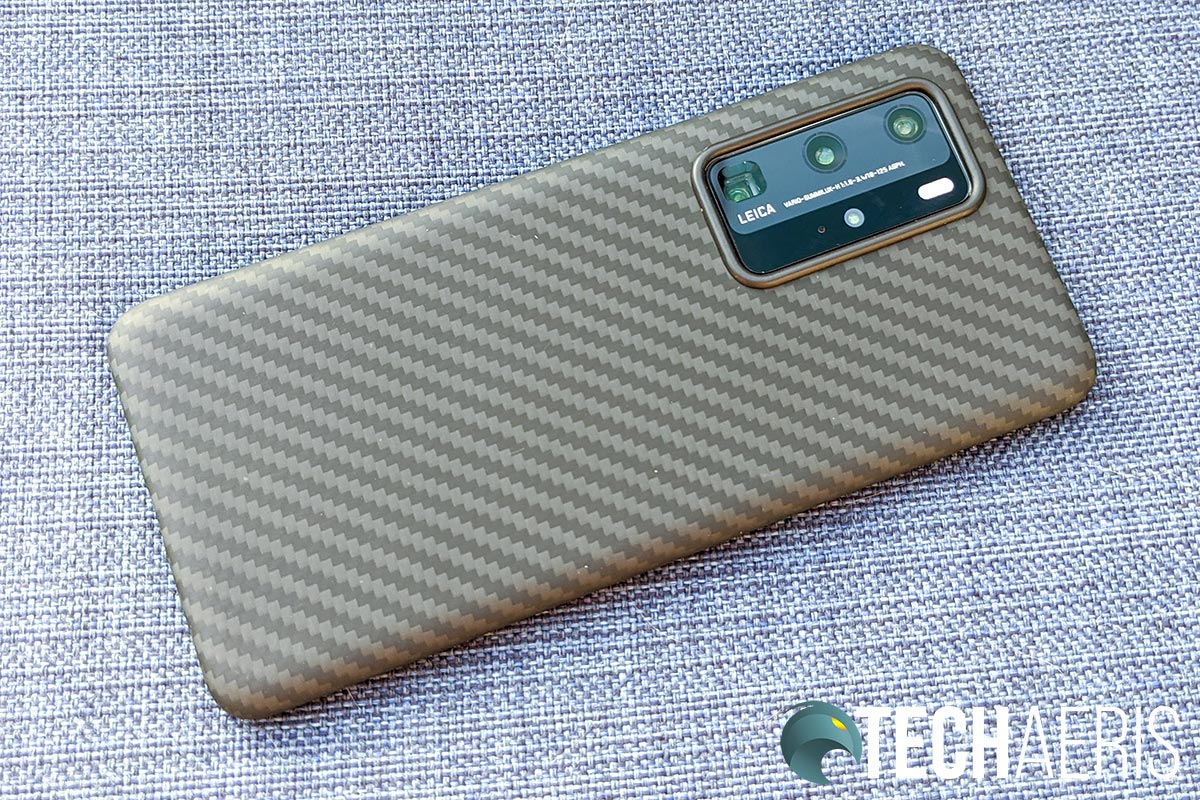 The back of the Pitaka MagEZ Case for the Huawei P40 Pro