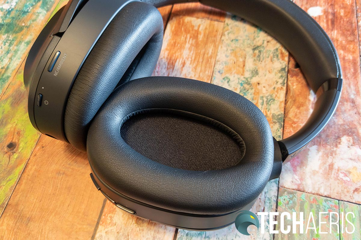 The plus leatherette memory foam ear cushions on the Razer Opus Wireless ANC Headset