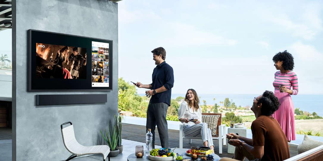 Samsung The Terrace outdoor TV and soundbar