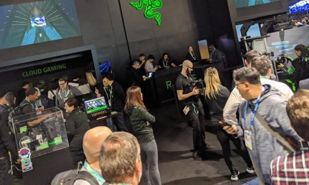The Razer booth at CES 2020 in Las Vegas, NV, USA