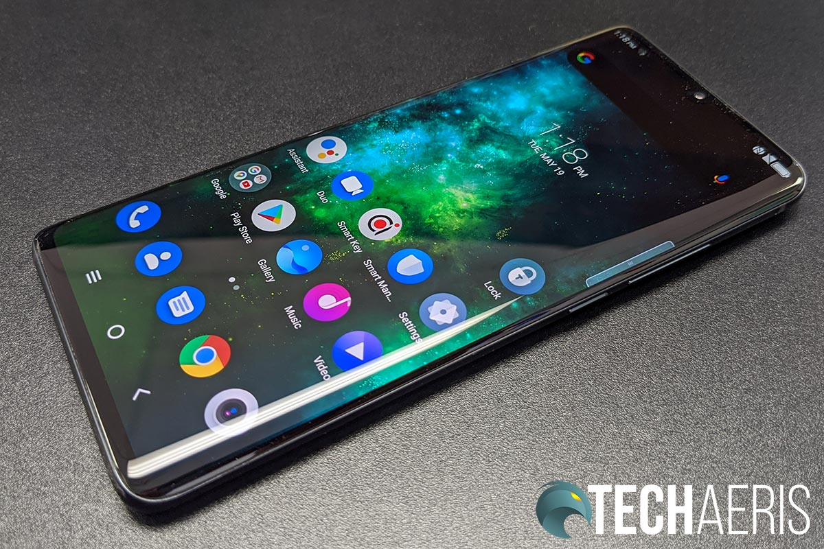 The curved waterfall display on the TCL 10 Pro Android smartphone