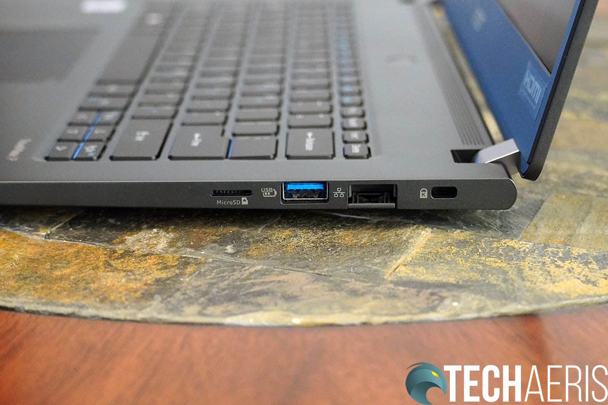 Acer TravelMate P6 Right Side Ports
