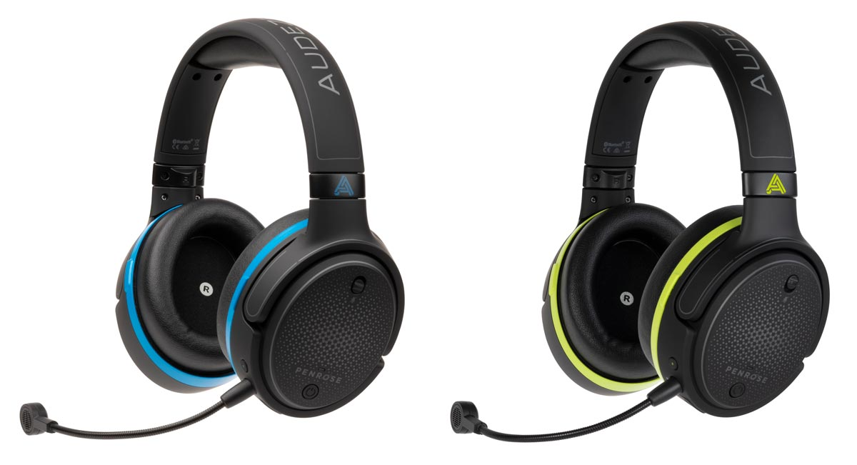 The Audeze Penrose (left) and Penrose X wireless gaming headsets