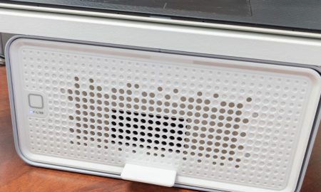 The Kensington FreshView Wellness Monitor Stand with Air Purifier