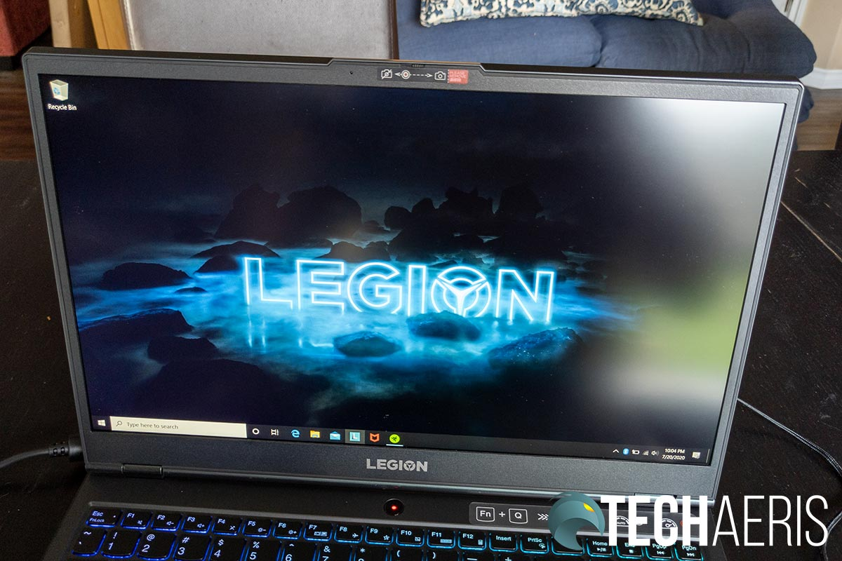 The display on the Lenovo Legion 5