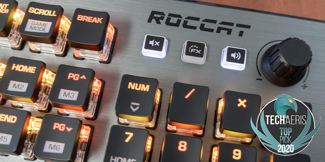 The ROCCAT Vulcan 120 AIMO mechanical gaming keyboard