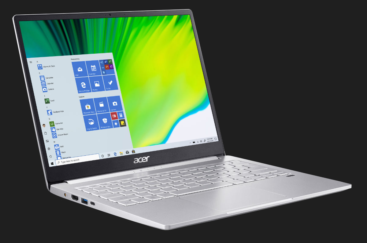 Acer Swift 5 Swift 3 Tiger Lake Processors