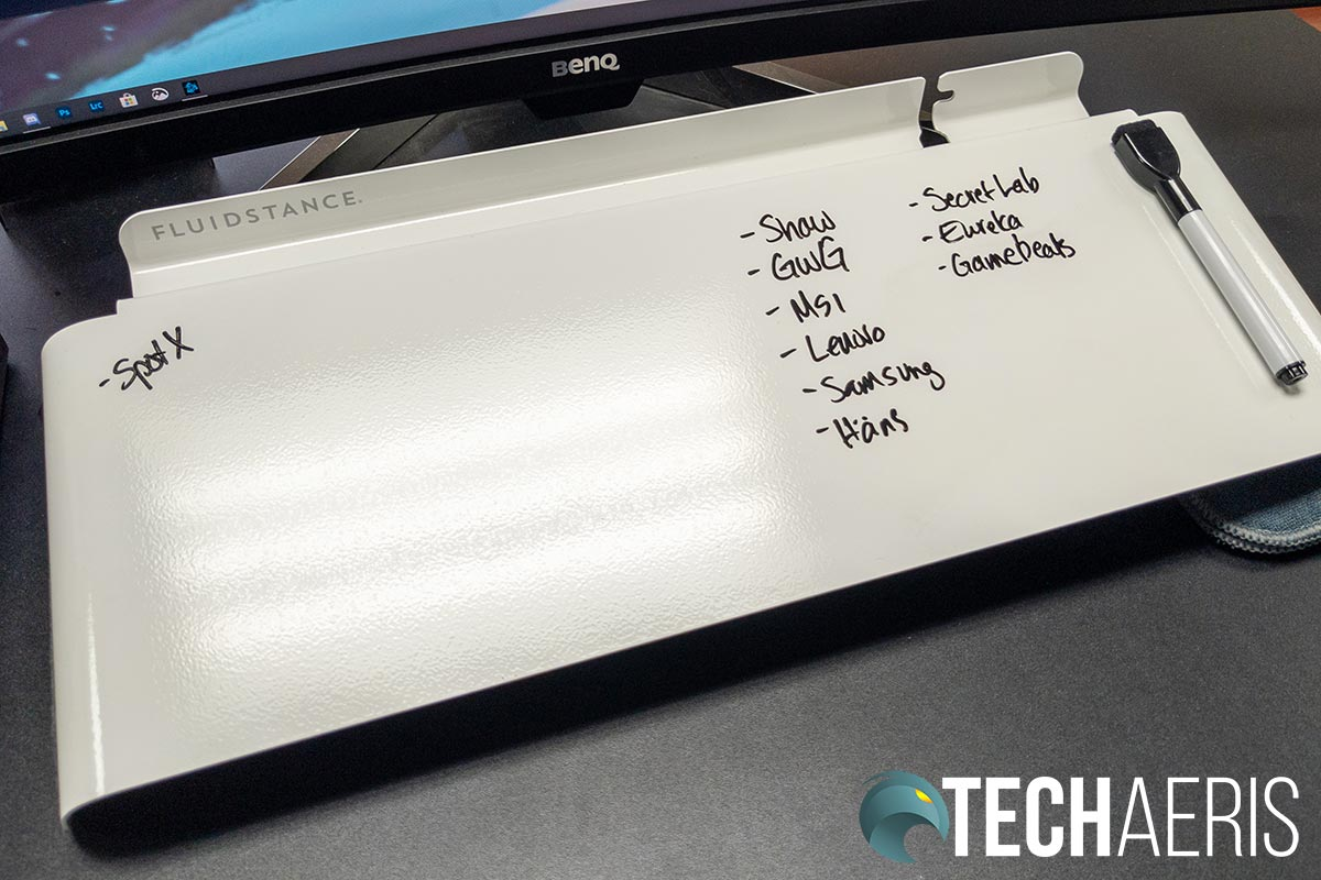 The Fluidstance Slope makes an excellent replacement for sticky notes