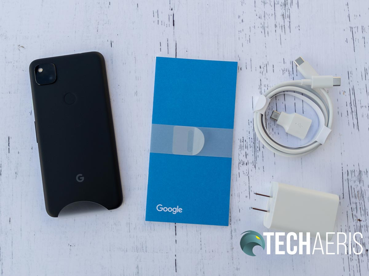 What's included with the Google Pixel 4a Android smartphone