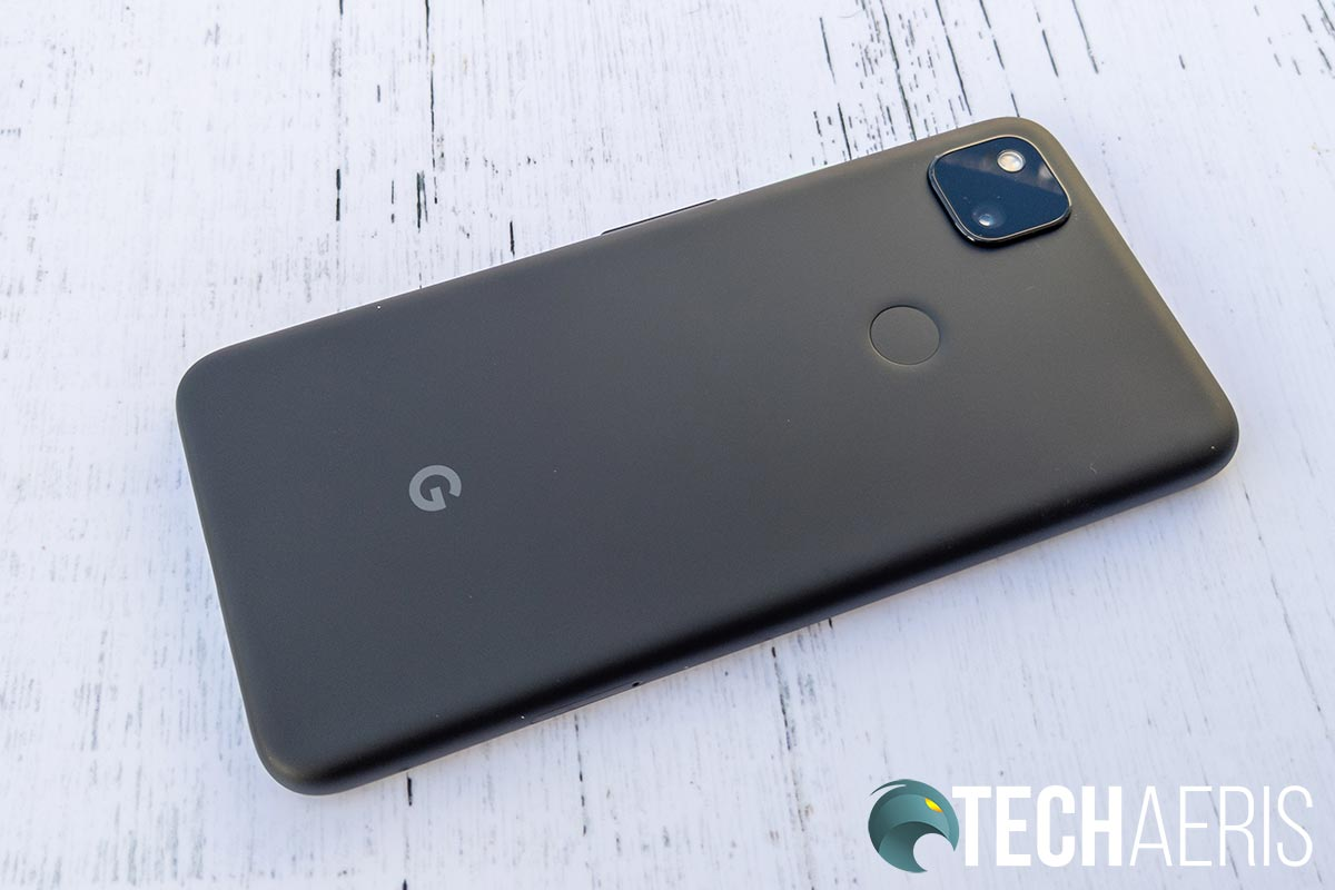The back of the Google Pixel 4a