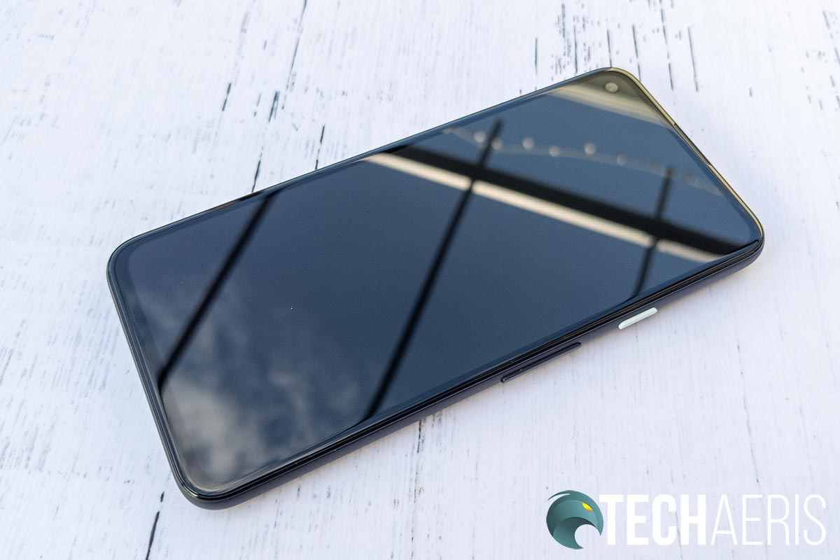 The front of the Google Pixel 4a