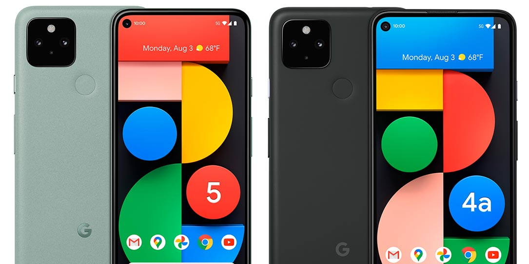 Google Pixel 5 and Pixel 4a (5G) Android smartphones