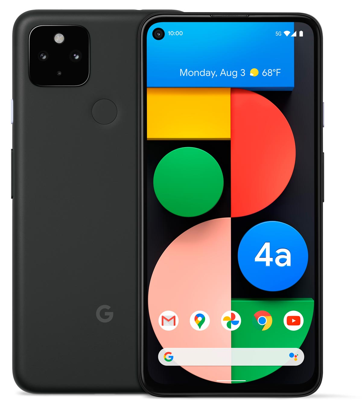 The Google Pixel 4a (5G) Android smartphone