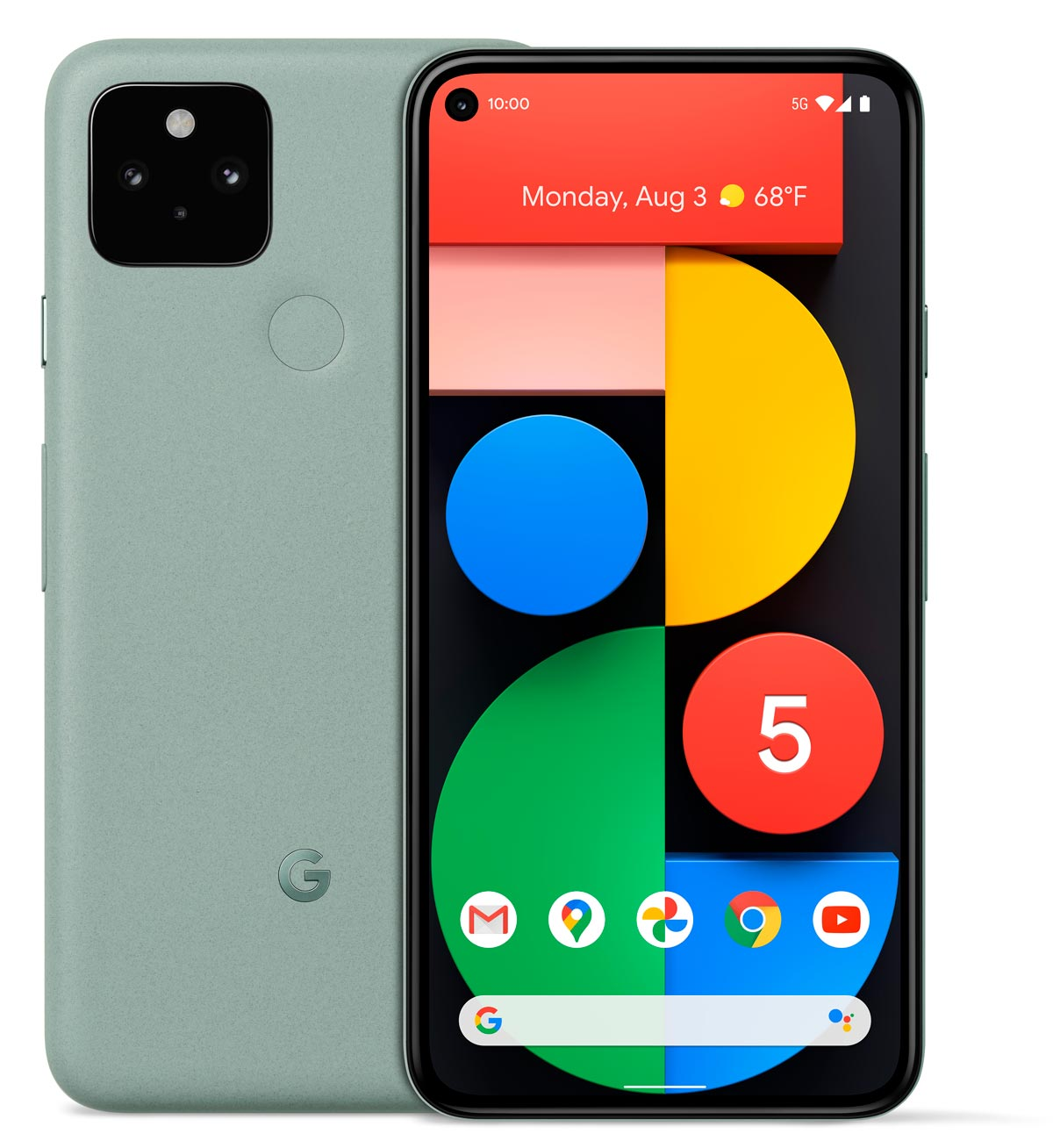 The Google Pixel 5 Android smartphone in Sorta Sage