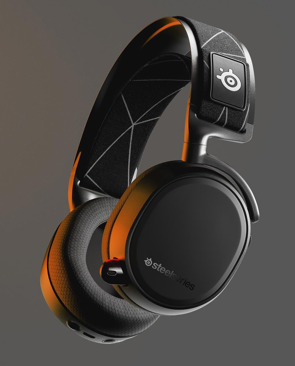 The SteelSeries Arctis 9 Dual Wireless Headset for PC and PlayStation