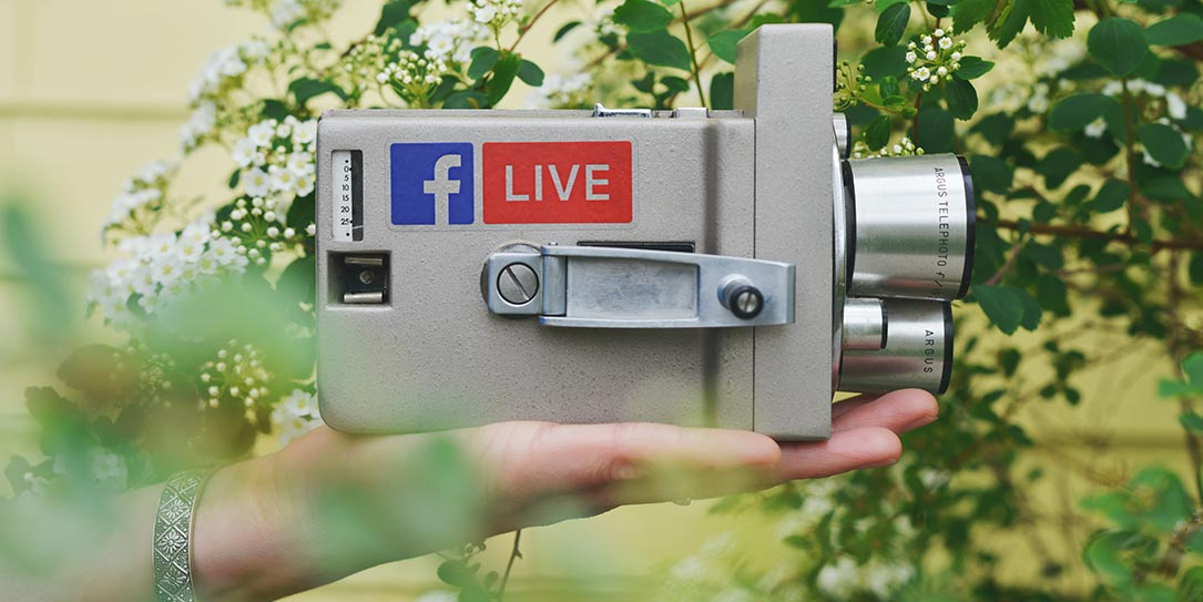business branding video camera facebook live