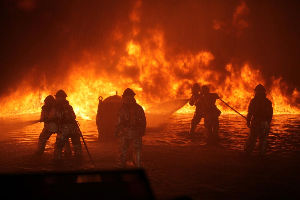 firefighters flame-resistant clothing fire