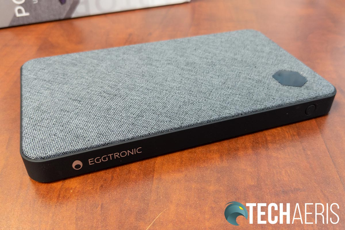The Eggtronic Laptop Power Bank has a nice canvas finish