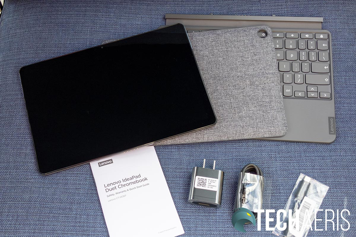 What's included with the Lenovo Chromebook Duet 2-in-1