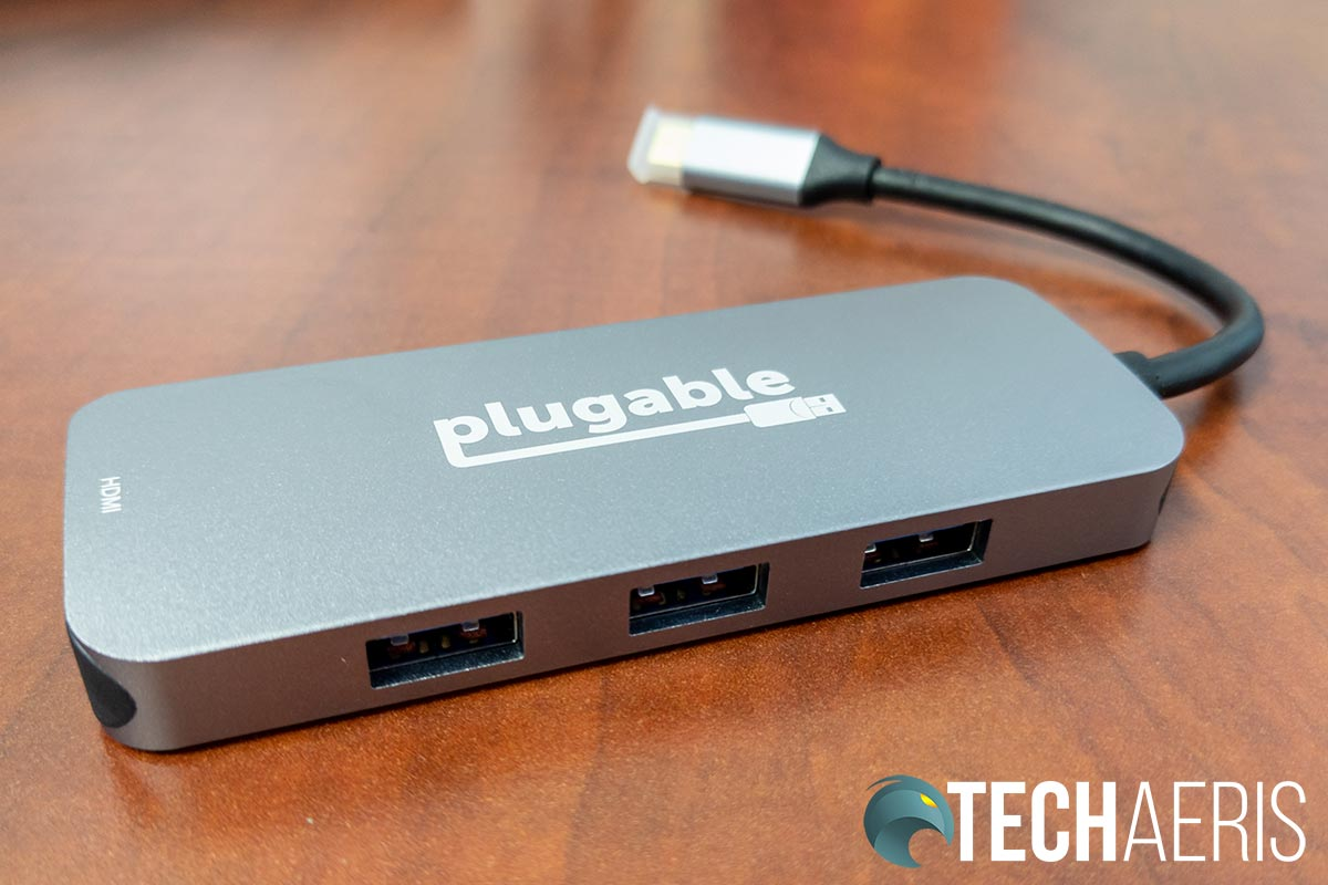 The USB-A ports on the Plugable USB-C 7-in-1 Hub