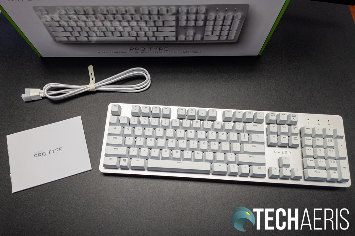 What's include in with the Razer Pro Type mechanical keyboard