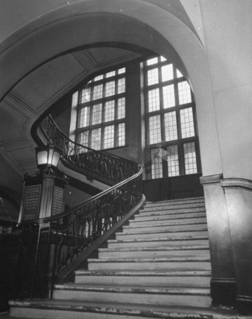 The main staircase in Scotland Yard... Credit: Photo by David E. Scherman/The LIFE Picture Collection via Getty Images (courtesy Canon)