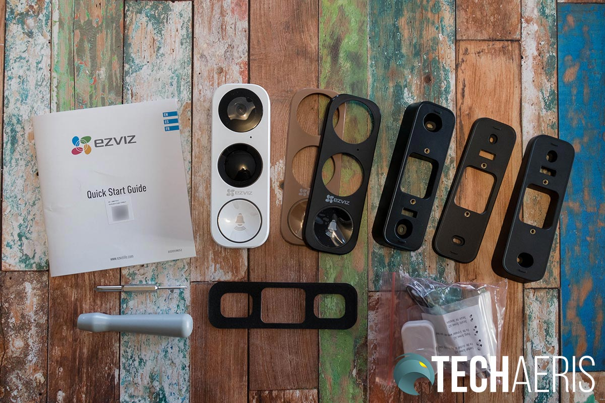 What's included with the EZVIZ DB1 Wi-Fi Video Doorbell