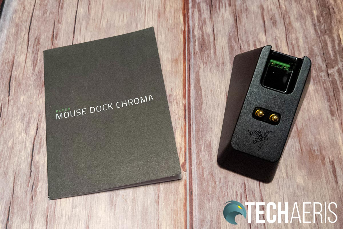 What's included with the Razer Mouse Dock Chroma