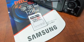 The Samsung PRO Plus for Professionals 128GB SDXC UHS-I Card