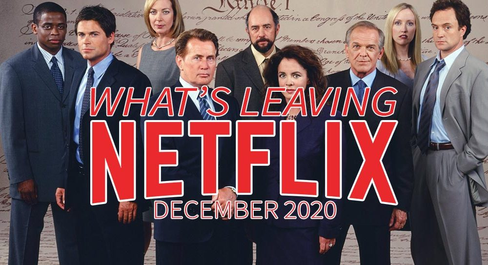 What's leaving Netflix in December 2020 The West Wing cast