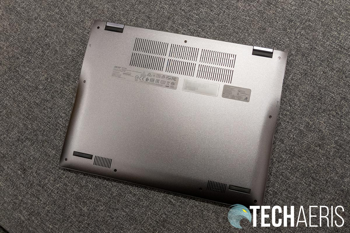 The bottom of the Acer Chromebook Spin 713