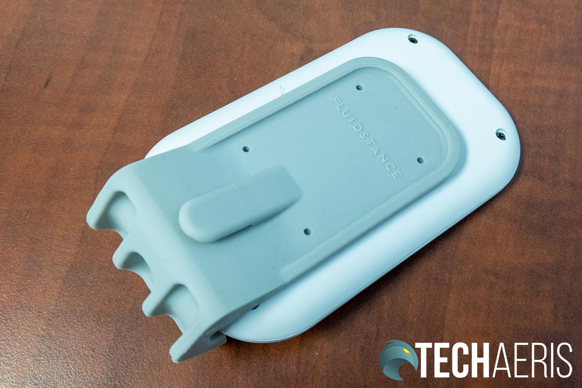 The back of the wireless charging pad stand included with the Fluidstance Slope+