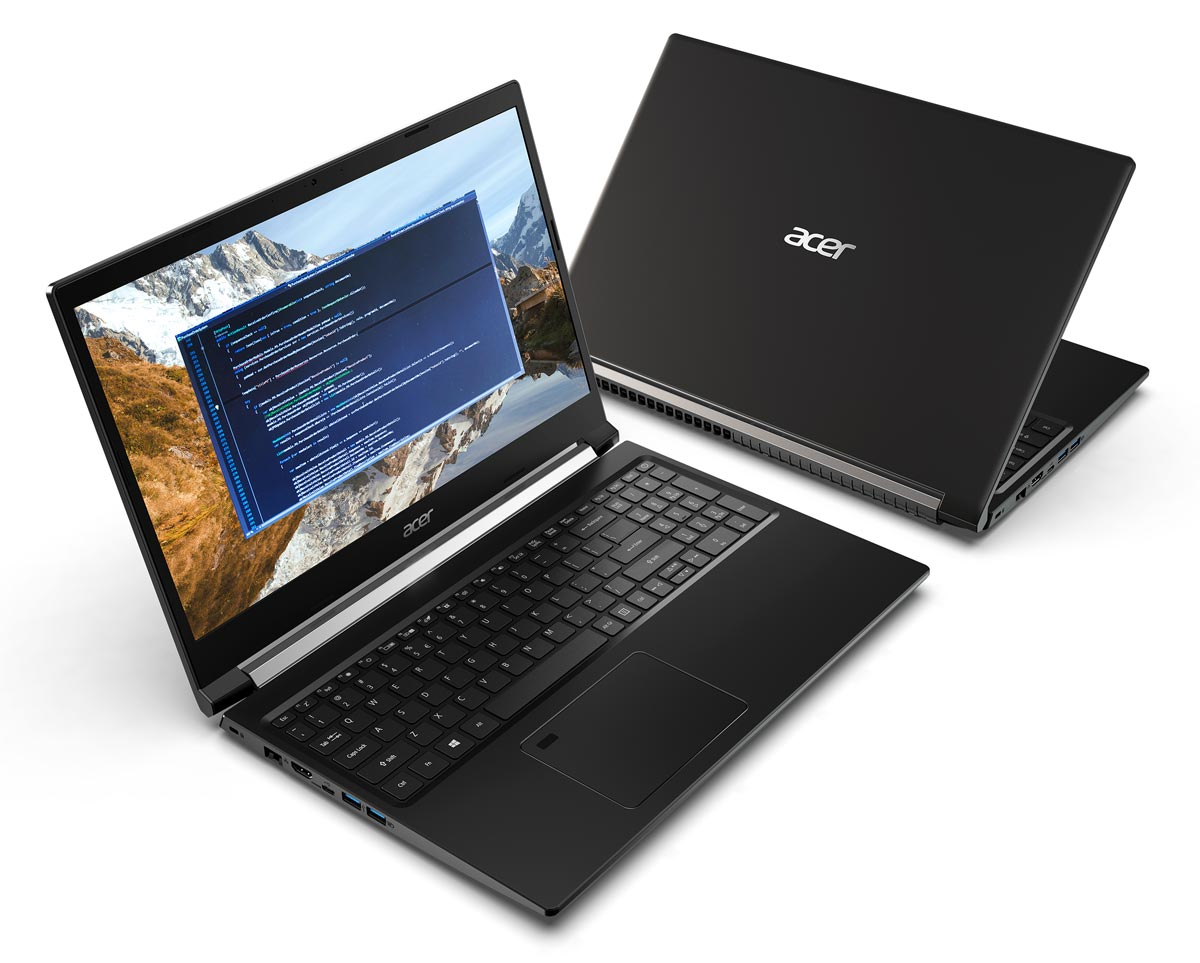 L'ordinateur portable de jeu Acer Aspire 7