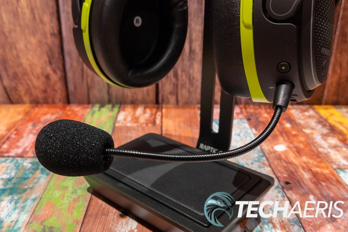 The detachable boom mic on the Audeze Penrose X gaming headset for Xbox and PC