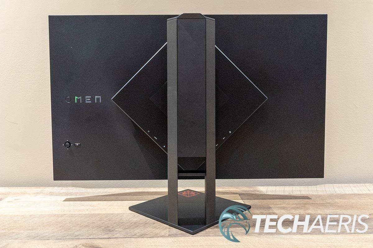 Back of the HP OMEN 27i gaming monitor