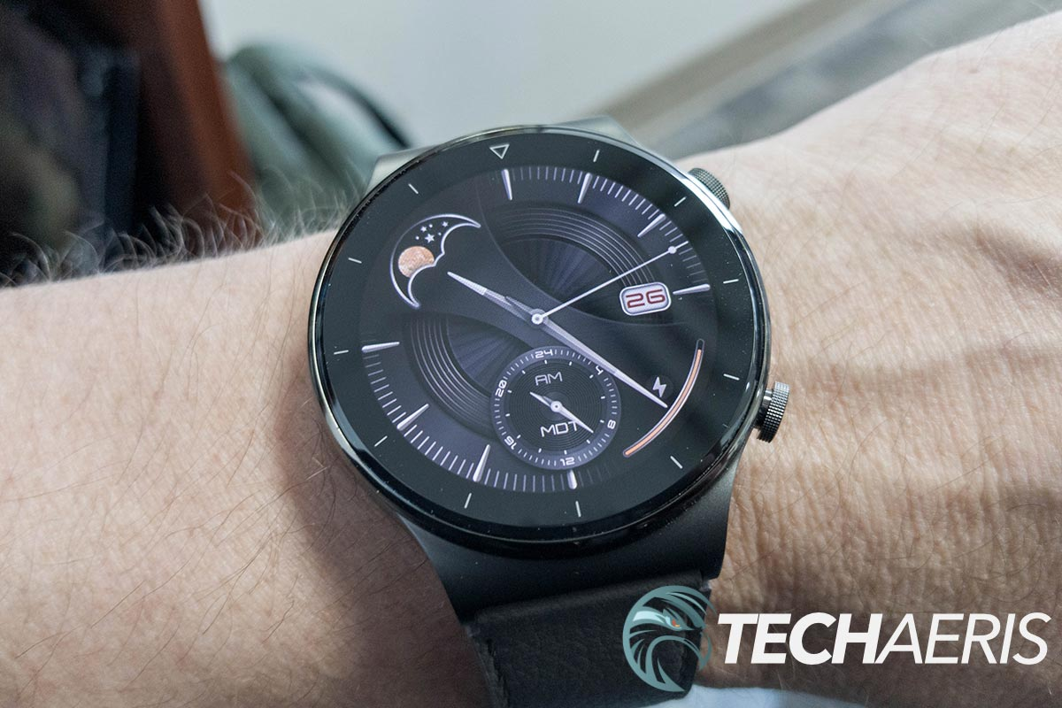 The display on the Huawei Watch GT 2 Pro fitness watch