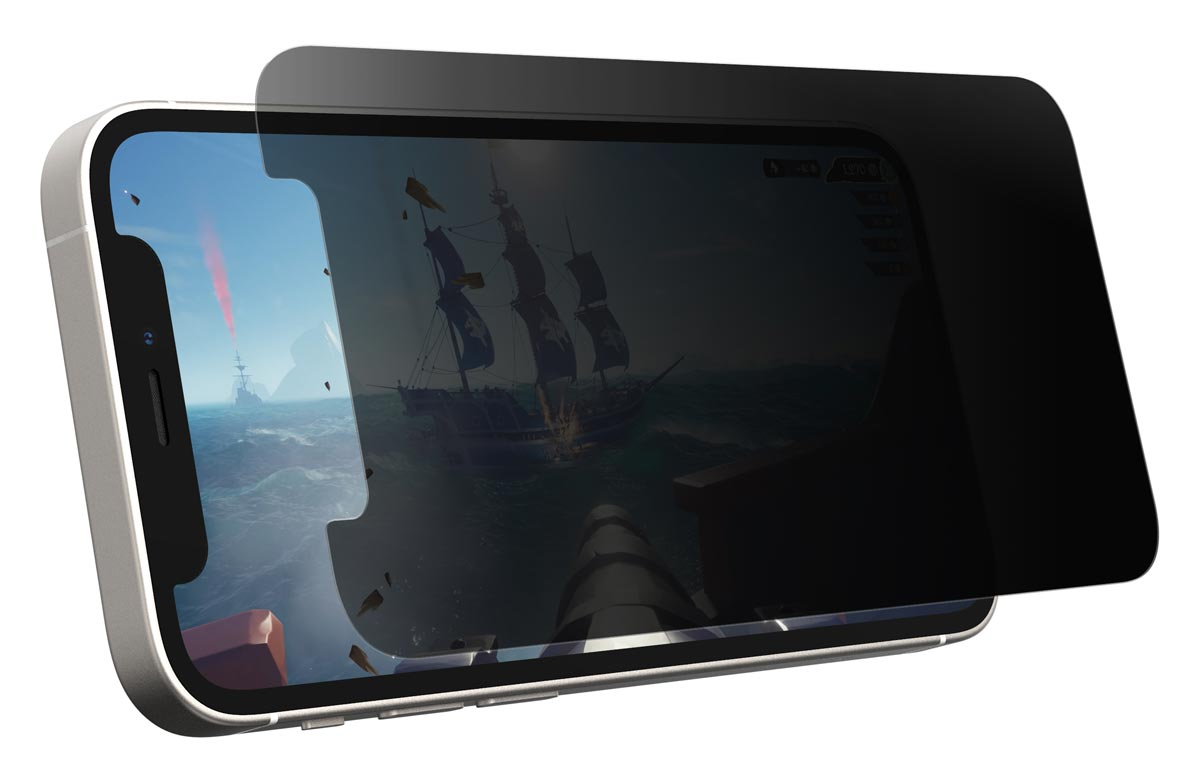 The Otterbox Gaming Glass Privacy Guard for iPhone