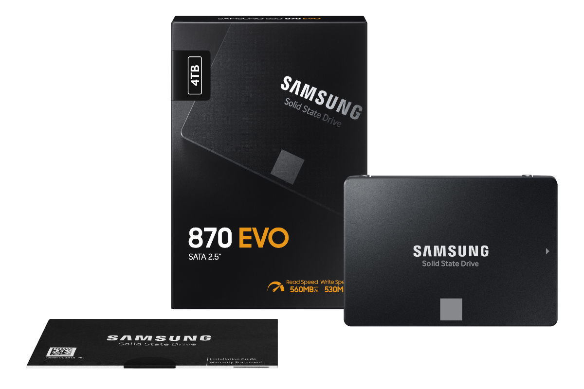 Samsung announces the 870 EVO SSD with up to 38% better performance