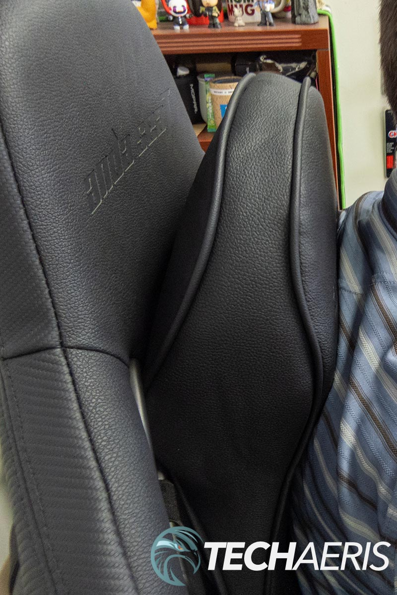 The neck rest cushion provides better support than most other gaming chairs
