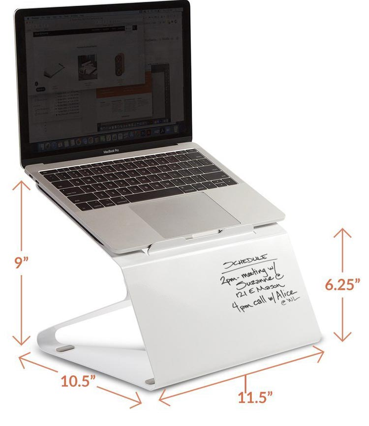 The Lift laptop stand/whiteboard from Fluidstance