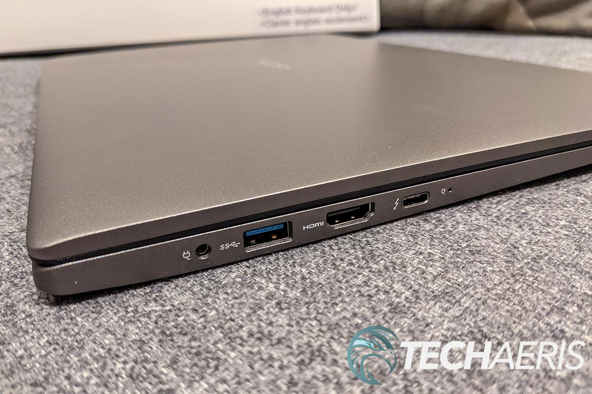The ports on the left side of the LG gram for business 17-inch laptop