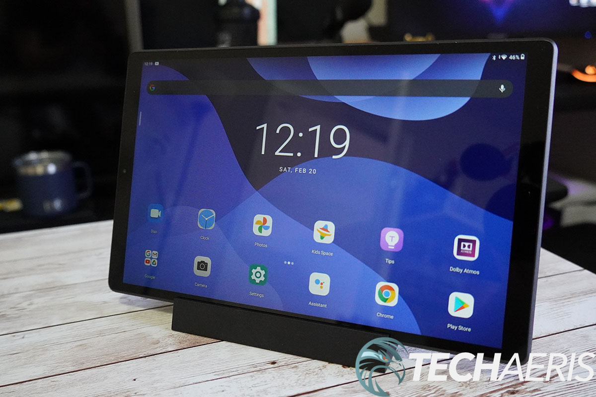 Lenovo Smart Tab M10 HD 2nd Gen front placed in dock
