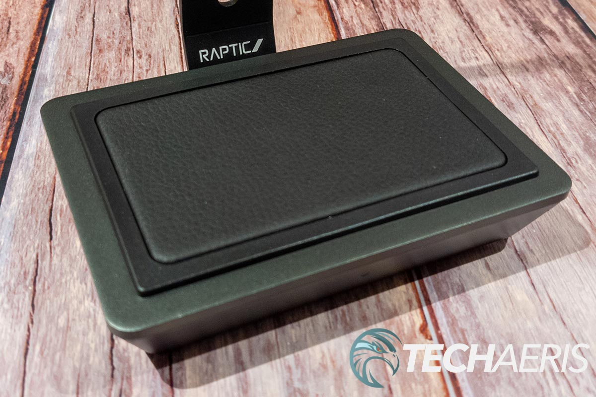 The charging pad on the Raptic Rise Power Stand