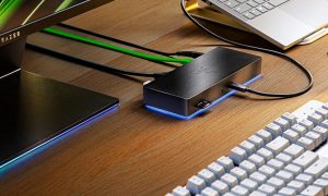 Razer Thunderbolt 4 Dock on desk