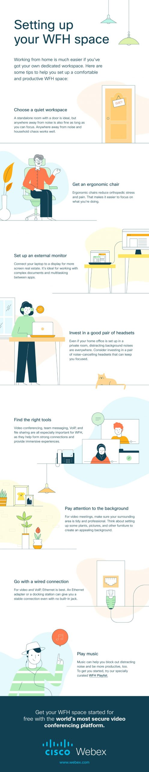 Cisco Webex infographic work from home
