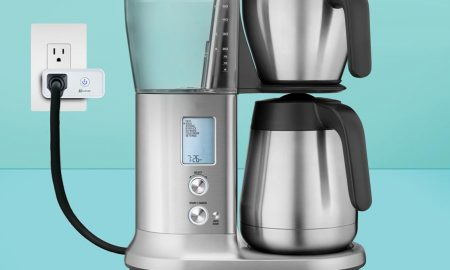 EZVIZ T30 smart plug with coffee maker