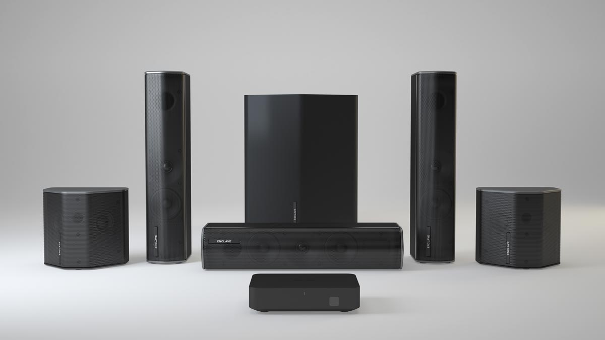The Enclave Audio CineHome II wireless audio system